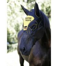 Masque Anti-mouches Brodé Logo + Texte