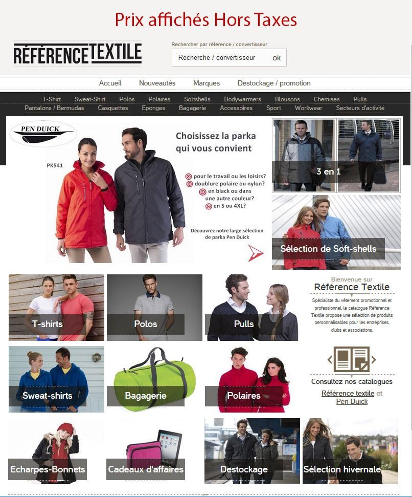 Catalogue Vêtements et Accessoires à personnaliser
